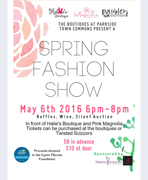 Fashion show in Cary, NC on Friday, May 6!