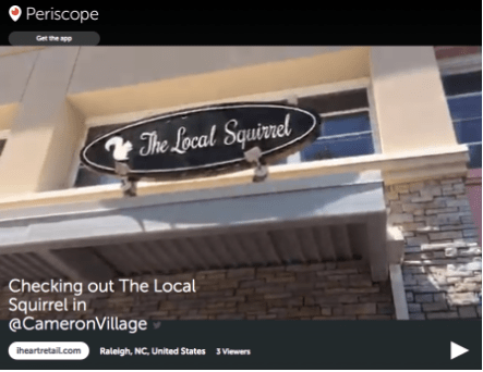 iheartretail.com visits The Local Squirrel in Cameron Village