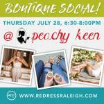 {You're Invited} Redress Raleigh Boutique Social with Peachy Keen