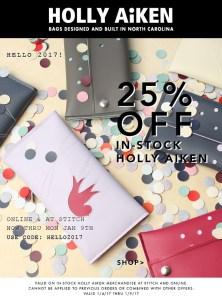January 2017 Holly Aiken sale