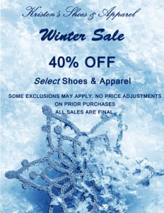 Save up to 40% at Kristen's Shoes and Apparel in Cameron Village