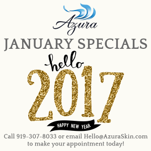 January VIP savings at Azura Skin Care Center in Cary, NC