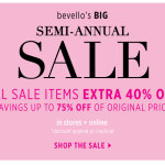 bevello semi-annual sale