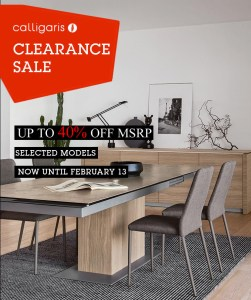 40% off Calligaris collection at Ambiente