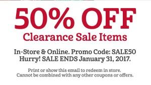 50% off sale items at SRI