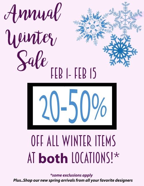 Annual winter sale at dress.