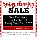 {Sale Alert} March 2017 Sale Guide