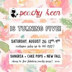 {You're Invited} Peachy Keen is Turning Five!