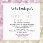 Voda Boutique grand opening event in Downtown Raleigh