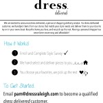 personal shopping by dress. delivered to your home