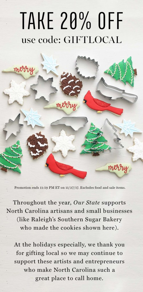 Small Business Saturday at Our State Magazine store