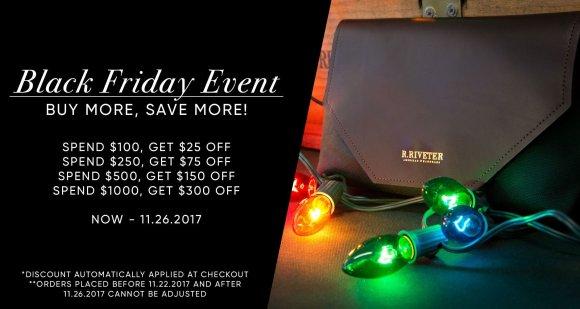 R.Riveter Black Friday Sale