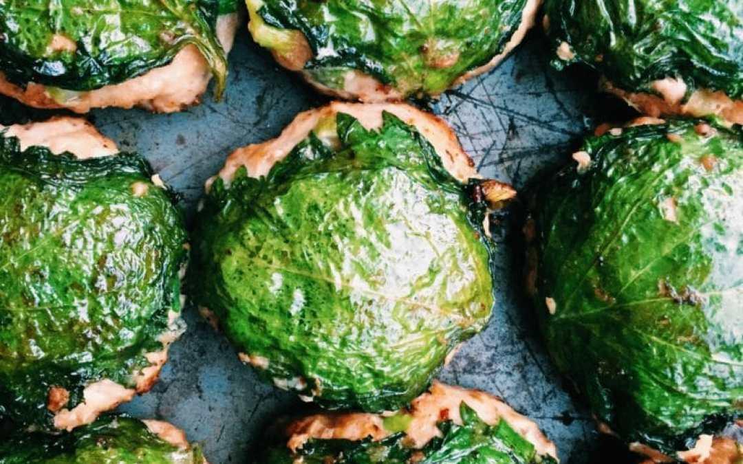 Japanese Shiso Leaf Meatballs