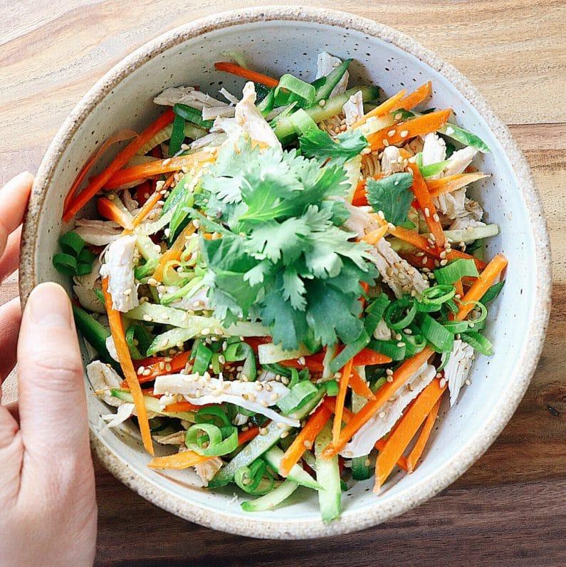 1 Minute Asian Chicken Salad