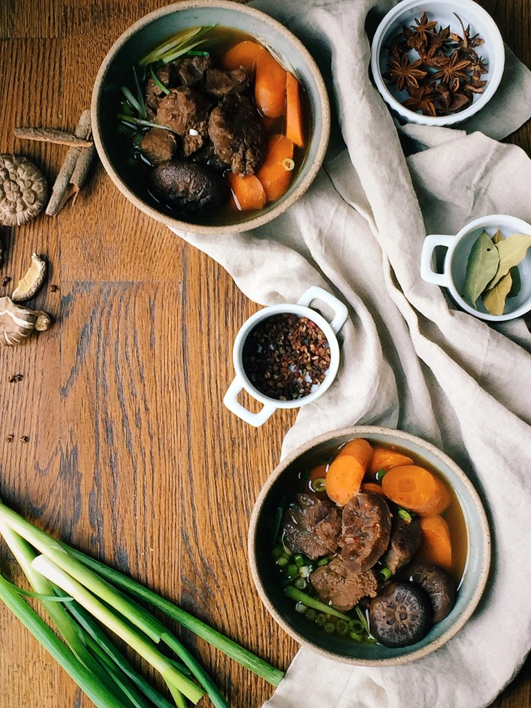 Taiwanese beef soup stew