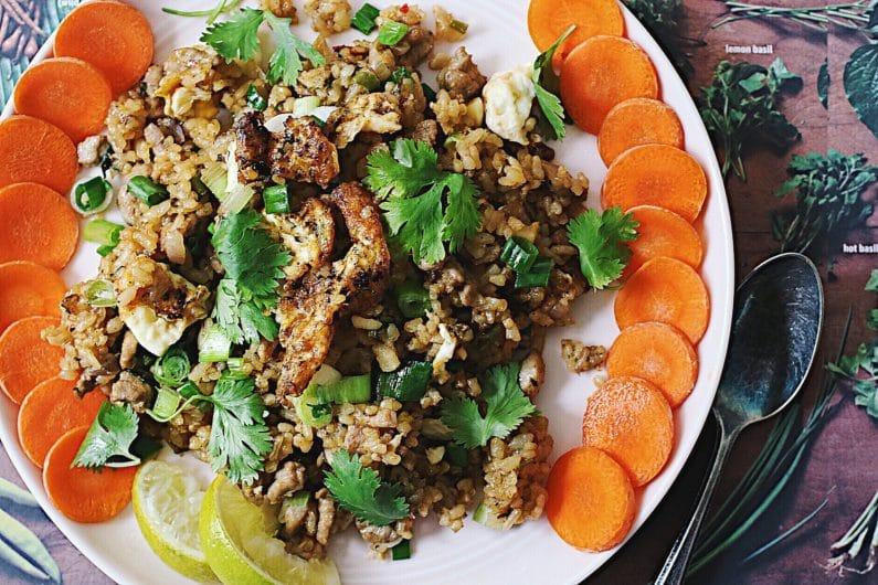Coconut Fried Rice with Pork Tenderloin