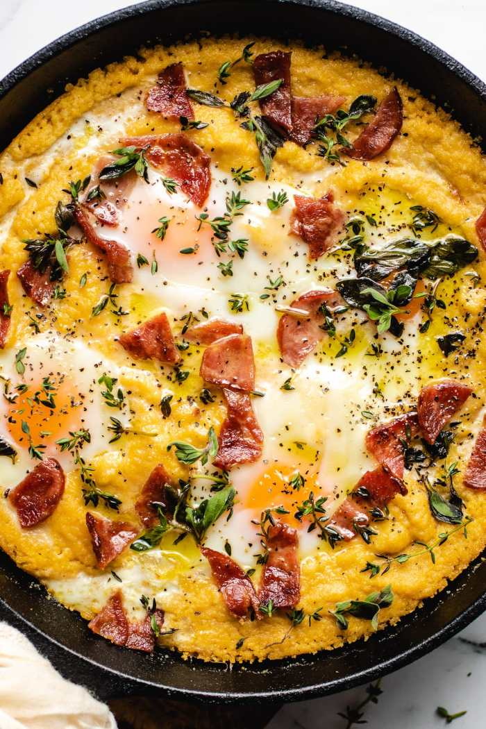 A feature photo of the paleo grits for breakfast with butternut puree
