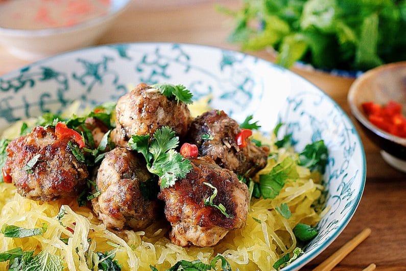 Vietnamese Meatballs Vermicelli Noodles