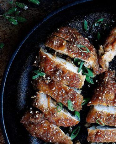 Paleo Crispy Teriyaki Chicken. Paleo Teriyaki Chicken. Whole30 Teriyaki Chicken. Paleo Asian food. Paleo Japanese Food.