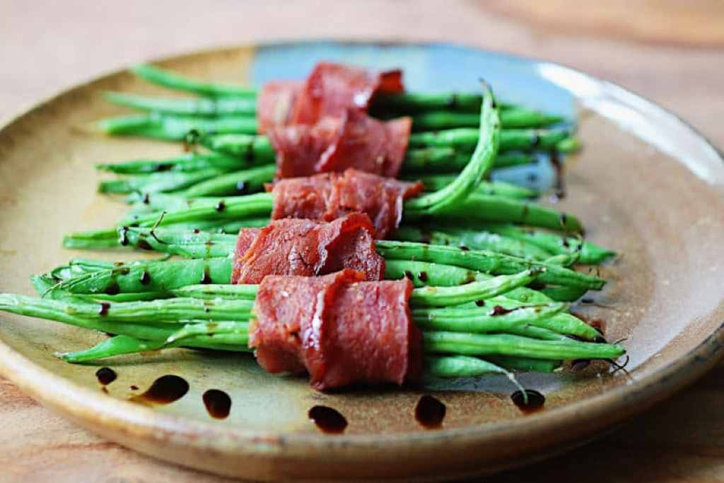 Crispy Green Beans wrapped with bacon