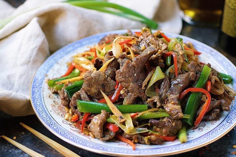Paleo Mongolian Beef . Beef with Scallion and ginger stir-fry. Whole30 mongolian beef. Keto mongolian beef.