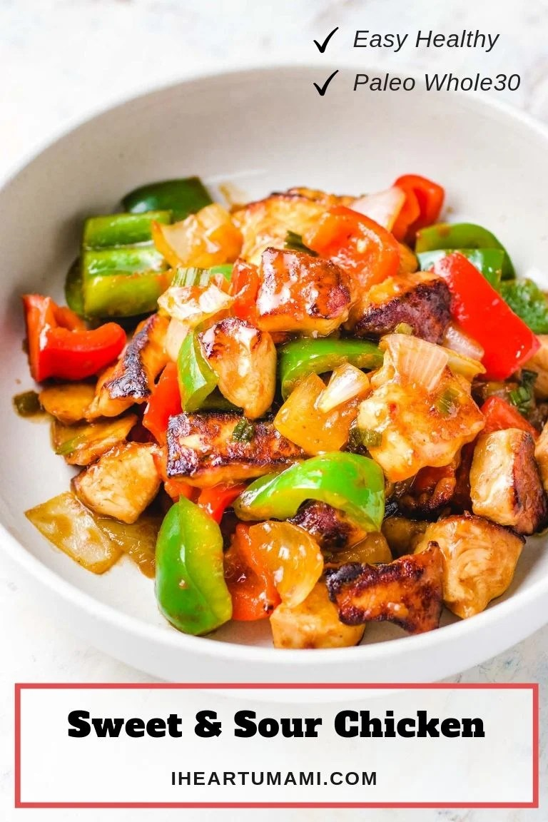 Chinese Sweet and Sour Chicken (Paleo, Whole30) | I Heart Umami
