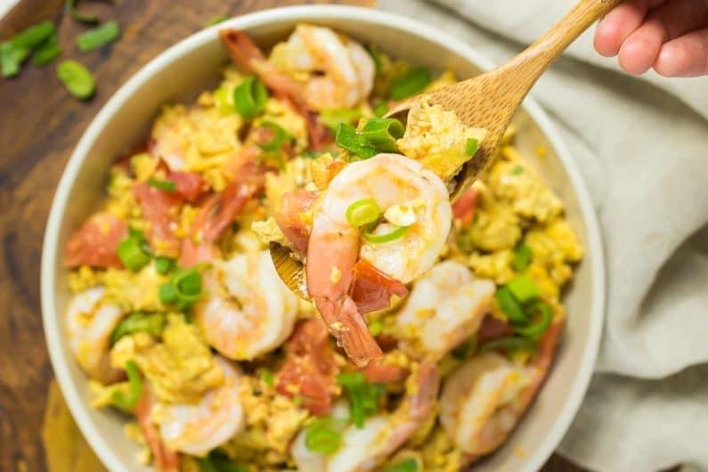 Paleo Chinese Shrimp Tomato Stir-Fry