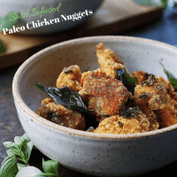 Paleo Chicken Nuggets. Taiwanese-style crunchy chicken nuggets. Perfect Paleo appetizer/game-day recipe. Paleo Asian food. Paleo Chinese food.