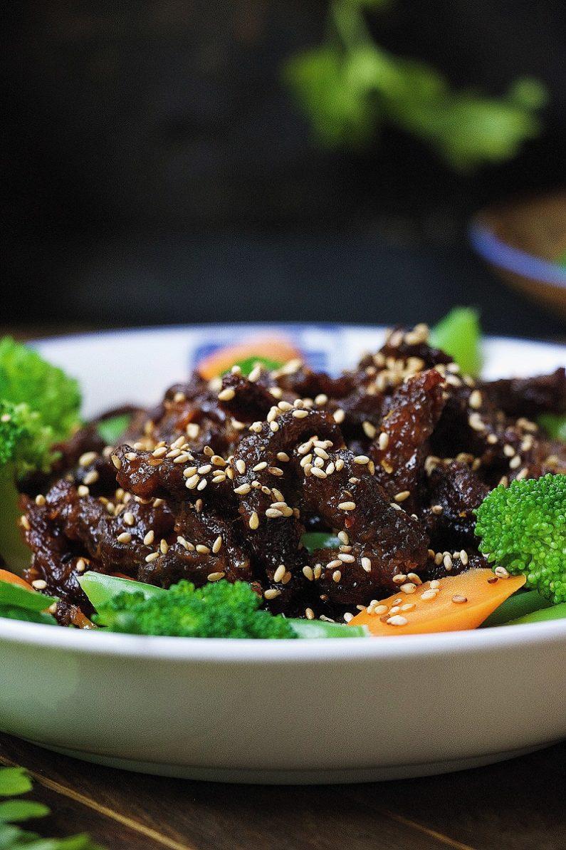 Paleo Crispy Sesame Beef Recipe from I Heart Umami