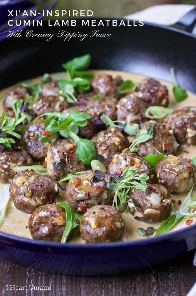 Xi'ian-inspired cumin lamb meatballs recipe