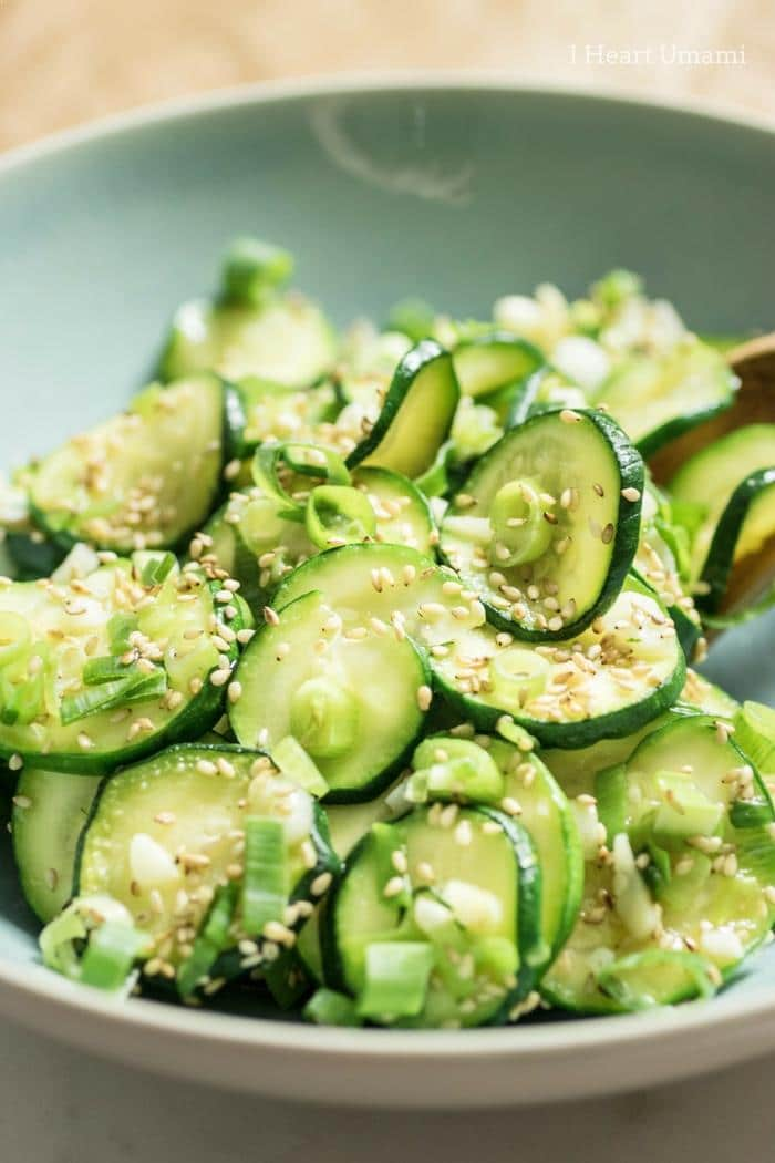 Easy healthy Kokrean Chilled Zucchini Sides recipe