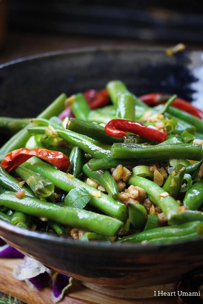Sichuan Dry Fried Green Beans Recipe