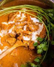 Paleo Instant Pot Butter Chicken Recipe with gluten-free dairy-free coconut milk cream for Paleo, Keto and Whole30 diets.
