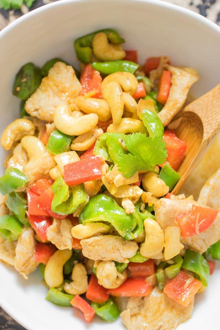 Paleo Cashew Chicken Recipe. Whole30 and Keto Cashew Chicken.