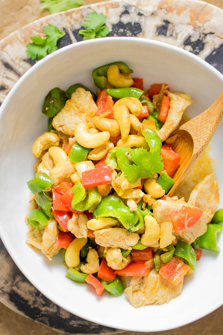 Paleo Cashew Chicken Recipe. Whole30 and Keto Cashew Chicken.