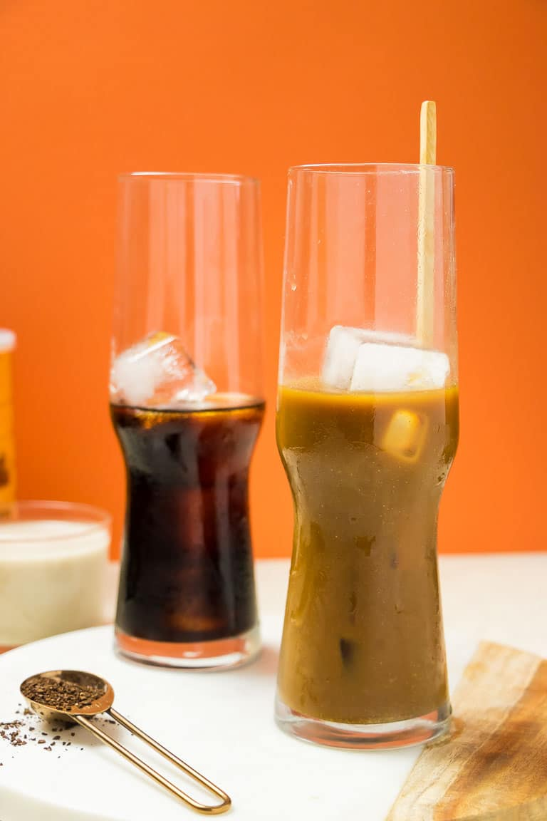 Paleo Coconut Milk Vietnamese Iced Coffee with dairy-free condensed milk Recipe.