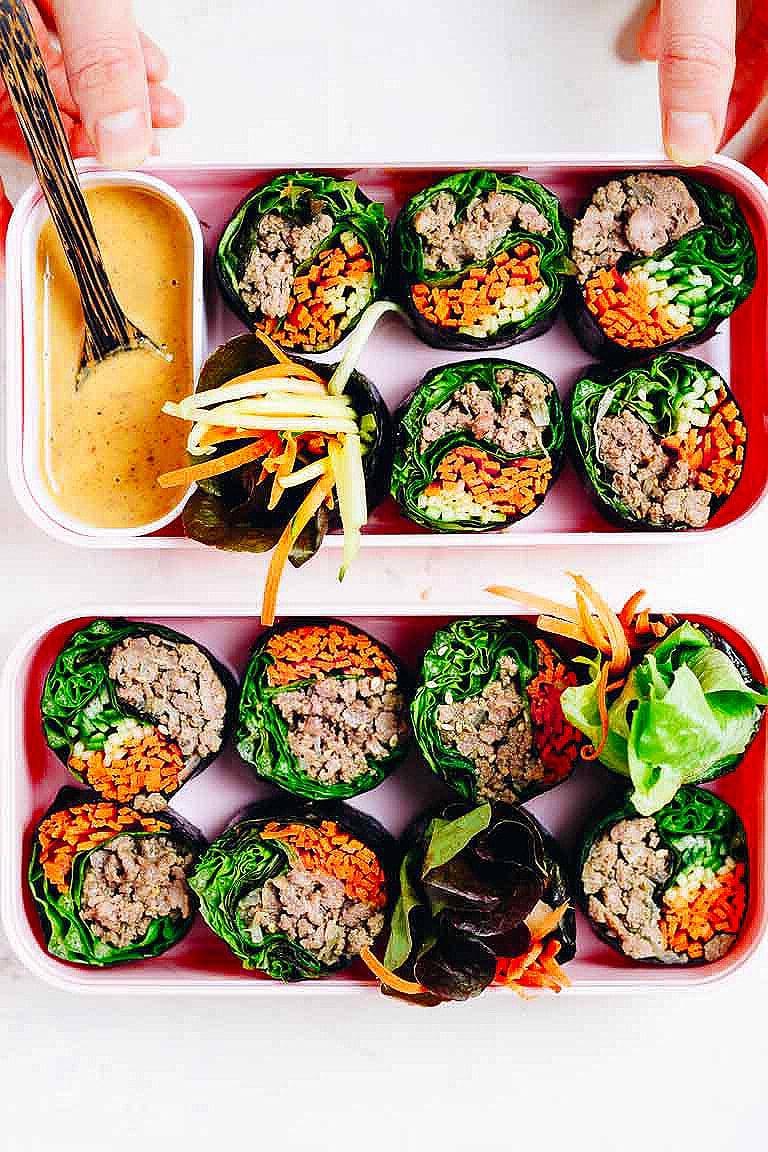 Keto Bulgogi Beef Sushi Rolls