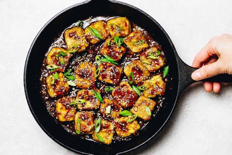 Paleo Crispy Sesame Tofu