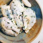 Simple Herb Roasted Spatchcock Chicken with rosemary, thyme, lemon, and garlic for Paleo Whole30 Keto holiday recipe.