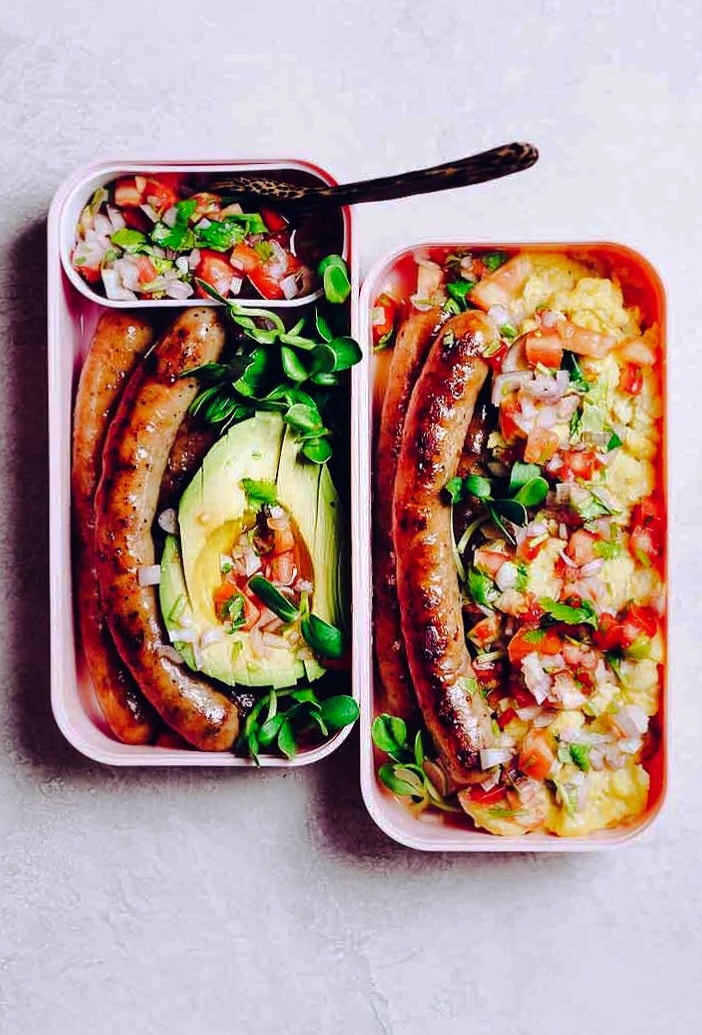 Whole30 breakfast sausage recipe with simple salsa plus egg-free options.