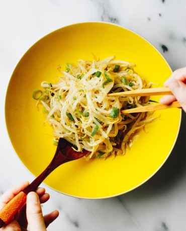 Paleo Mung Bean Sprouts Recipe is a low carb salad dish for summer season from I Heart Umami.