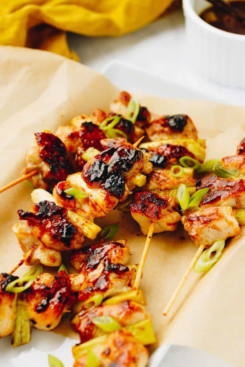 Paleo Chicken Yakitori Skewers Recipe with Whole30 Teriyaki Sauce from I Heart Umami.