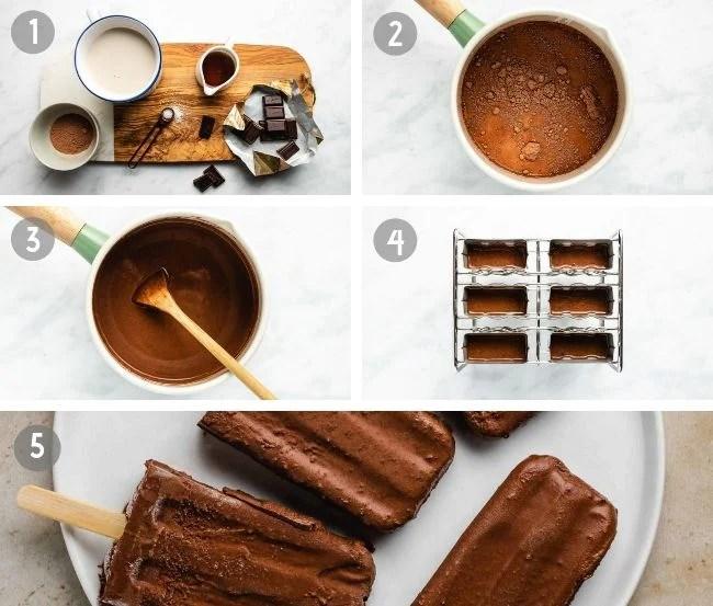 How to make Homemade Dairy-Free Chocolate Fudge Popsicles