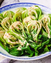 Bok choy salad recipe (pak choi) with creamy toasted sesame dressing from I Heart Umami.