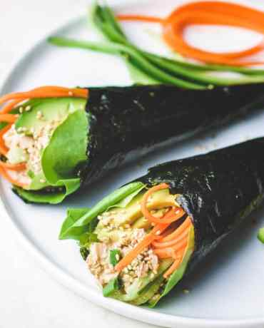Temaki Sushi recipe is the best Low Carb Tuna Temaki Hand Roll recipe.