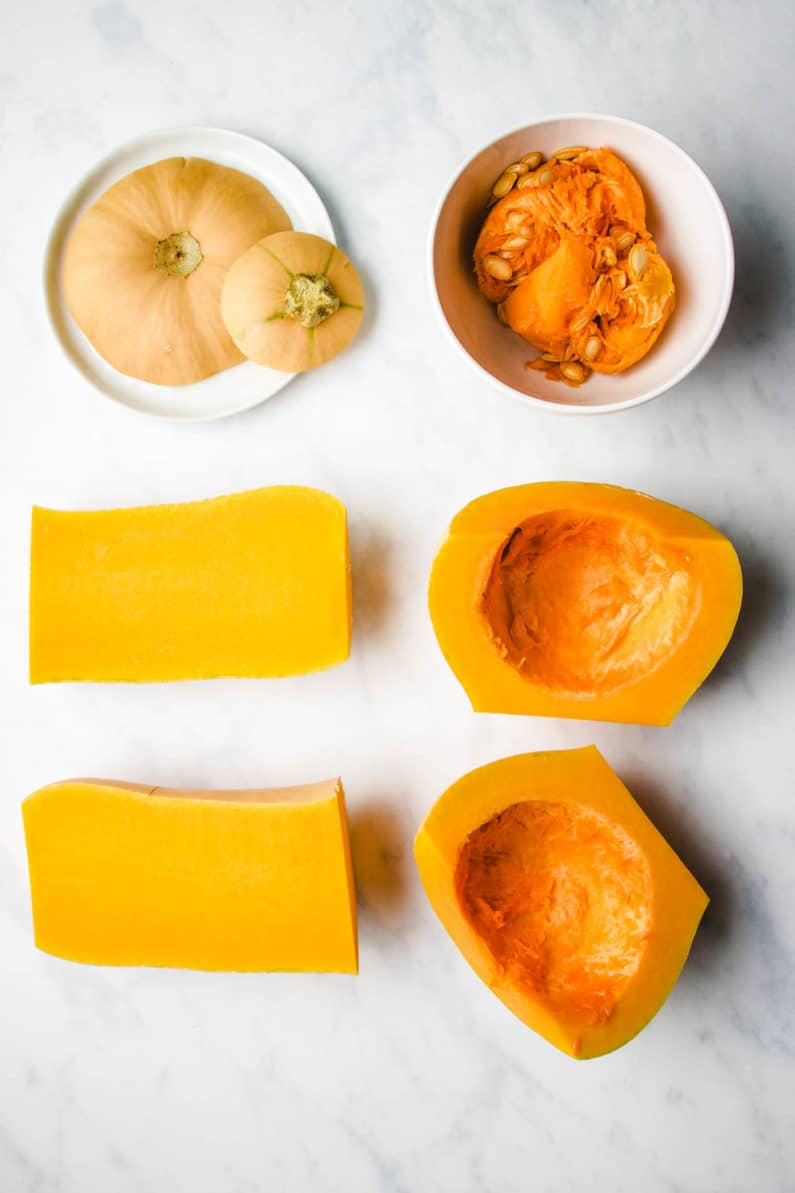 the easiest way to cut a butternut squash