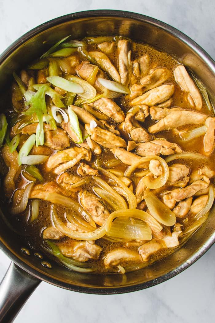 chicken simmered in Oyakodon sauce I Heart Umami