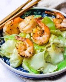 Sautéed Cabbage recipe Asain-style is gluten-free, keto, and Paleo from I Heart Umami.