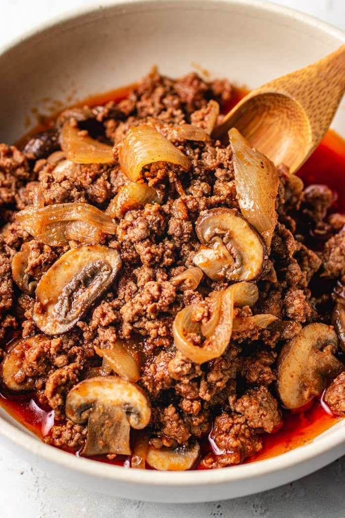 Ground beef with mushroom recipe I Heart Umami