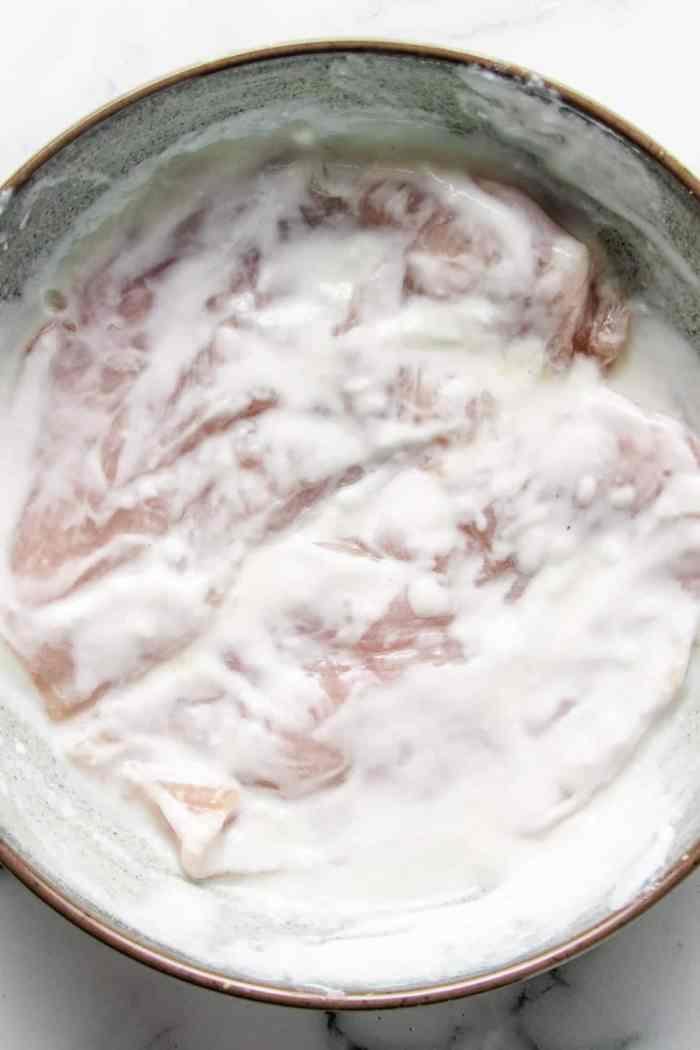 Yogurt marinated chicken breasts